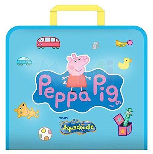 Aquadoodle Peppa świnka bazgroły podróżna mata wodna z bazgrołami, oficjalna zabawka do kolorowania i rysowania, odpowiednia dla małych dzieci i chłopców i dziewcząt w wieku 18 miesięcy, 2, 3, 4+ lat
