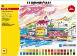Eberhard Faber 522536  miękkie kredki pastelowe, 36 sztuk w kartonowym etui