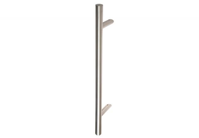 Pochwyt drzwiowy jednostronny fi 32 mm L-1400, X-1200 stal nierdzewna bez śrub
