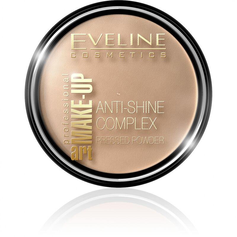 EVELINE - Art Make-Up - Anti-Shine Complex Pressed Powder - Puder mineralny z jedwabiem - 35 GOLDEN BEIGE