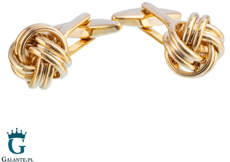 Spinki do mankietów złote węzełki sd-9032