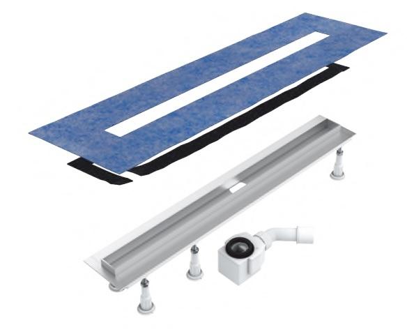 Schedpol Slim Lux odpływ liniowy z maskownicą Plate Slim do zabudowania płytkami 80x3,5x9,5cm OLP80/SLX