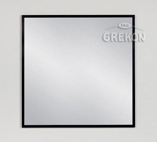 Lustro łazienkowe w czarnej ramie aluminiowej 80x80cm, Gante