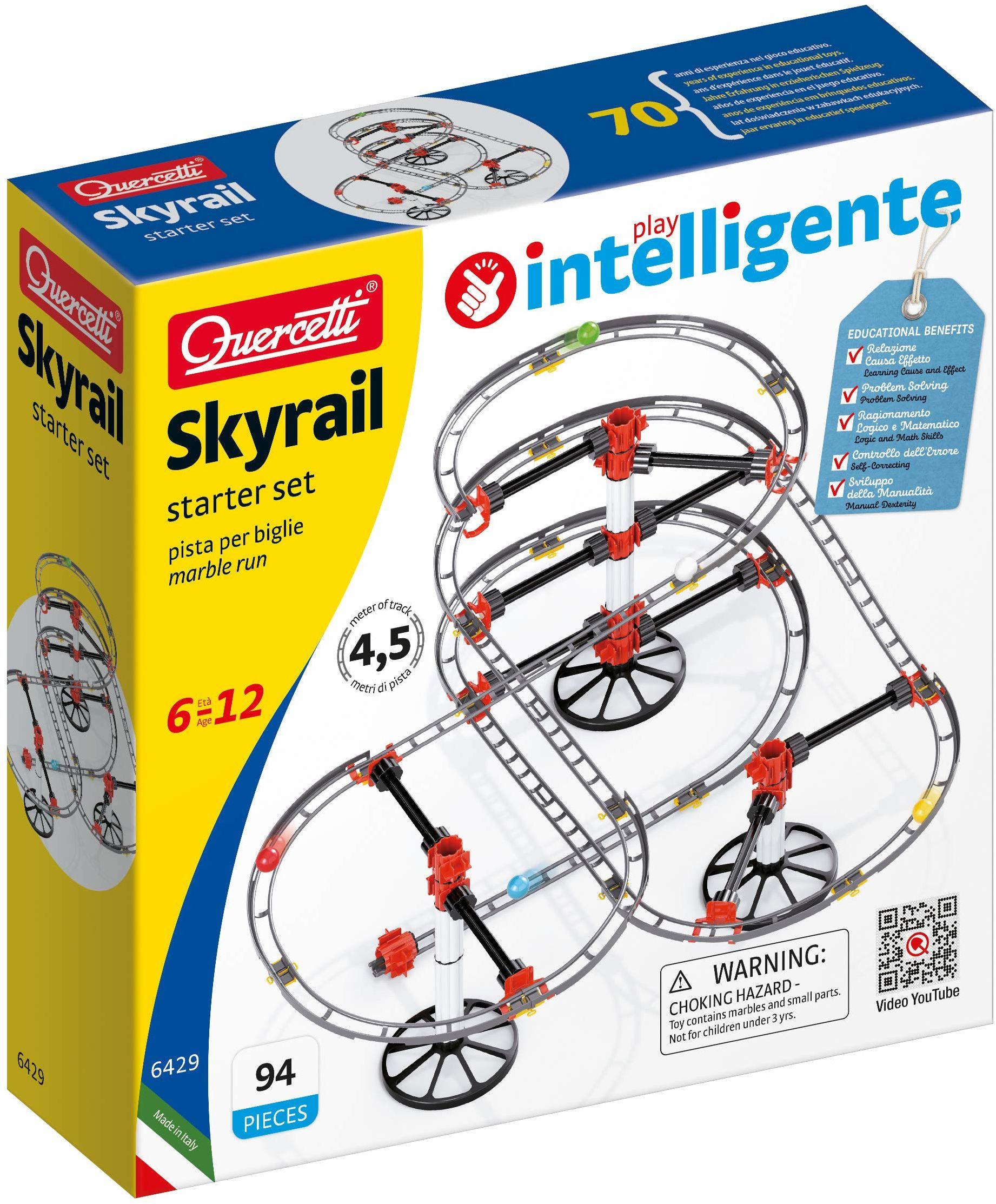 Quercetti 6429 Quercetti-6429 zestaw startowy marmur biegi STEM edukacyjna zabawka do nauki