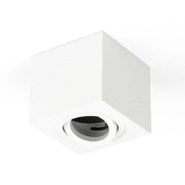 Oprawa sufitowa spot kostka natynkowa CROSTI SASARI SQ 90 S biały szer. 9cm