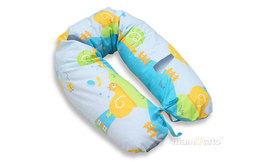 MAMO-TATO Poszewka na poduszkę dla kobiet w ciąży Ślimaki w błękicie