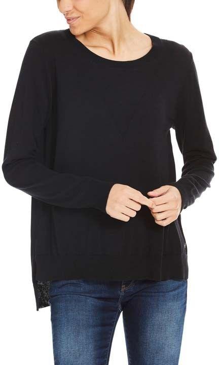 sweter BENCH - Jumper Basic Black Beauty (BK11179)