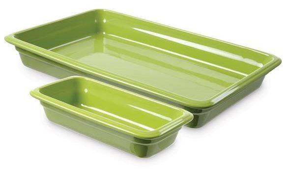 Pojemnik GN 2/3, gł. 6,5 cm porcelanowy zielony