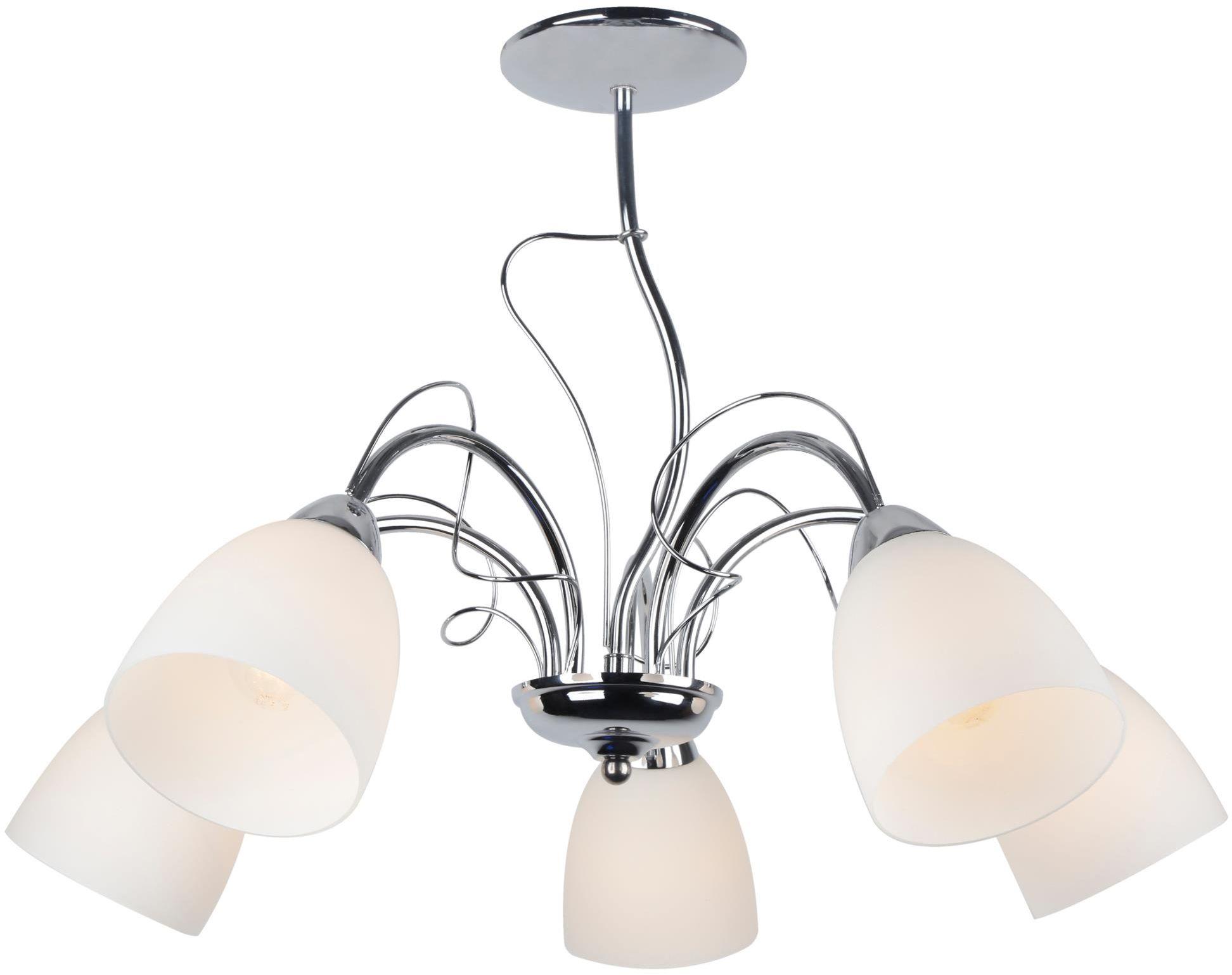 Lampex Lima 5 450/5 lampa wisząca klasyczna szklany klosz 5x40W E14 54cm