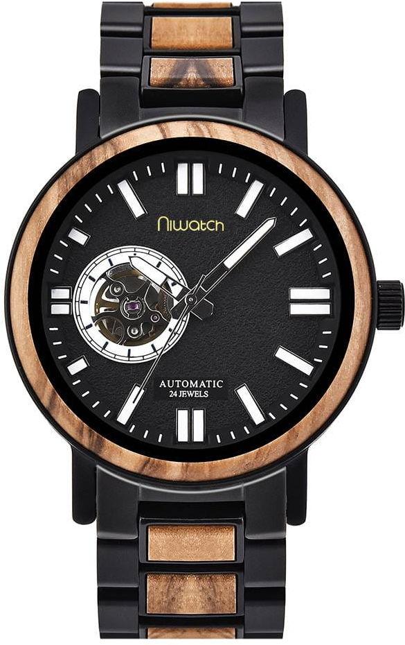 Zegarek Niwatch Automatic - Drewno Oliwne