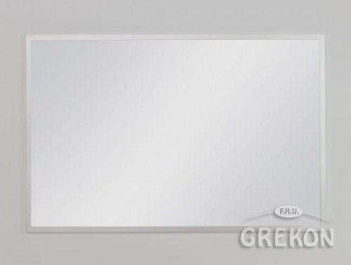 Lustro łazienkowe w srebrnej ramie aluminiowej 100x65cm, Gante