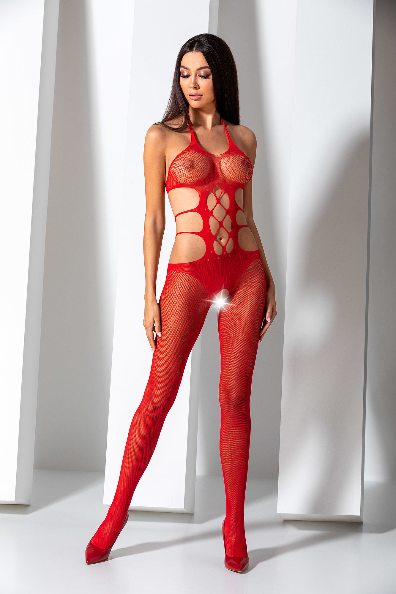 Passion Bodystocking BS084 Red
