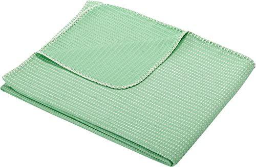 Biederlack narzuta z mieszanki bawełny, 150 x 180 cm, zielona