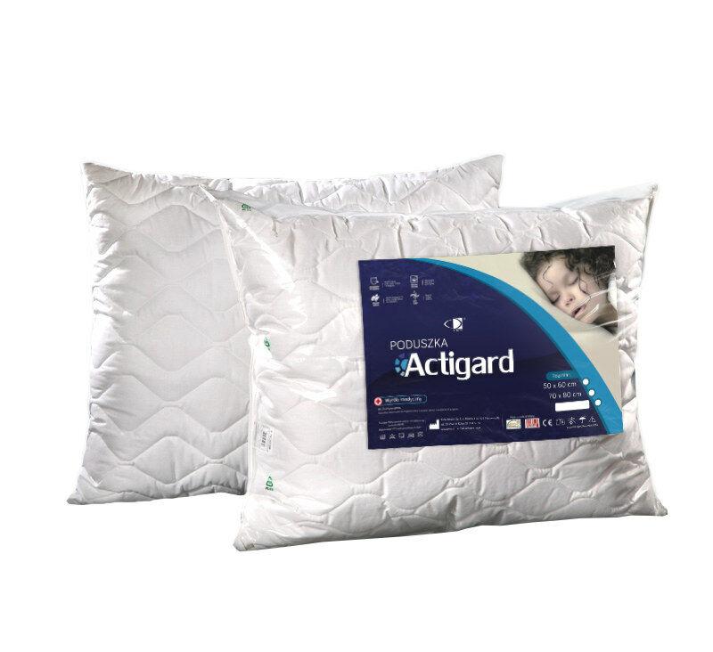 Poduszka antyalergiczna 70x80 Actigard 1,00 kg biała 100% bawełna wykończona substancją antybakteryjną Actigard AMW