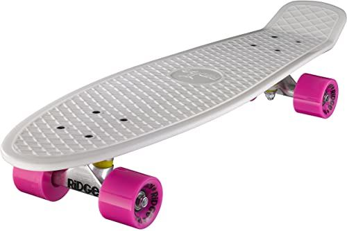 Ridge Deskorolka Big Brother nikiel 69 cm Mini Cruiser, biała/różowa