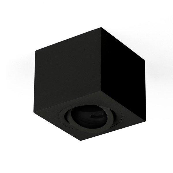 Oprawa sufitowa spot kostka natynkowa CROSTI SASARI SQ 90 S czarny szer. 9cm