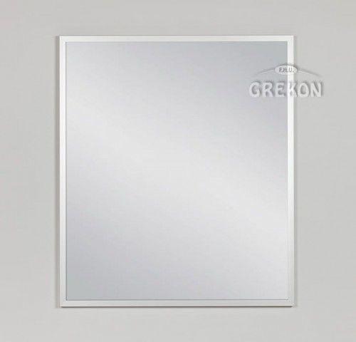 Lustro łazienkowe w srebrnej ramie aluminiowej 70x80cm, Gante