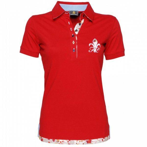 Koszulka polo SPORTY damska - FIOR DA LISO - red