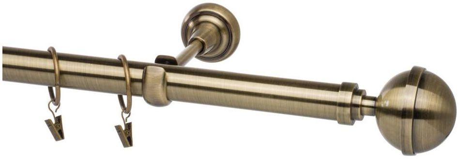 Karnisz Kula Elegant 160 cm pojedynczy złoty 25 mm