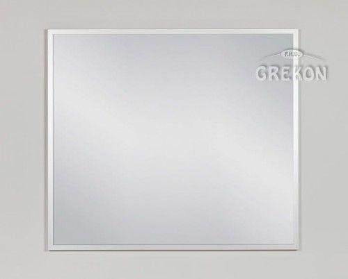 Lustro łazienkowe w srebrnej ramie aluminiowej 90x80cm, Gante