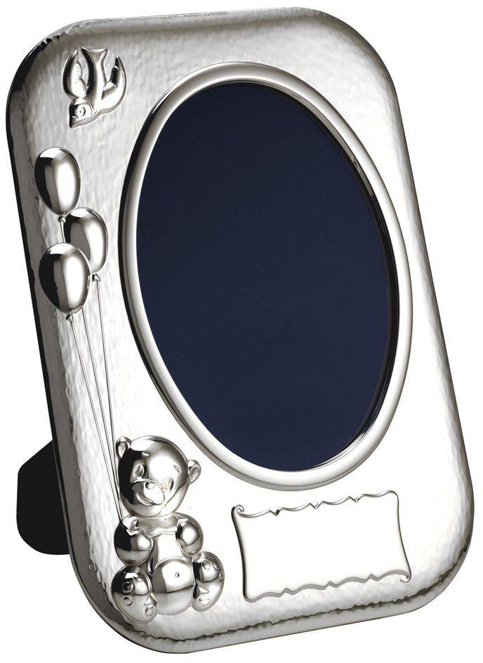 Vinard 028503 ramka w kształcie misia, srebrna, 20 x 20 x 3 cm