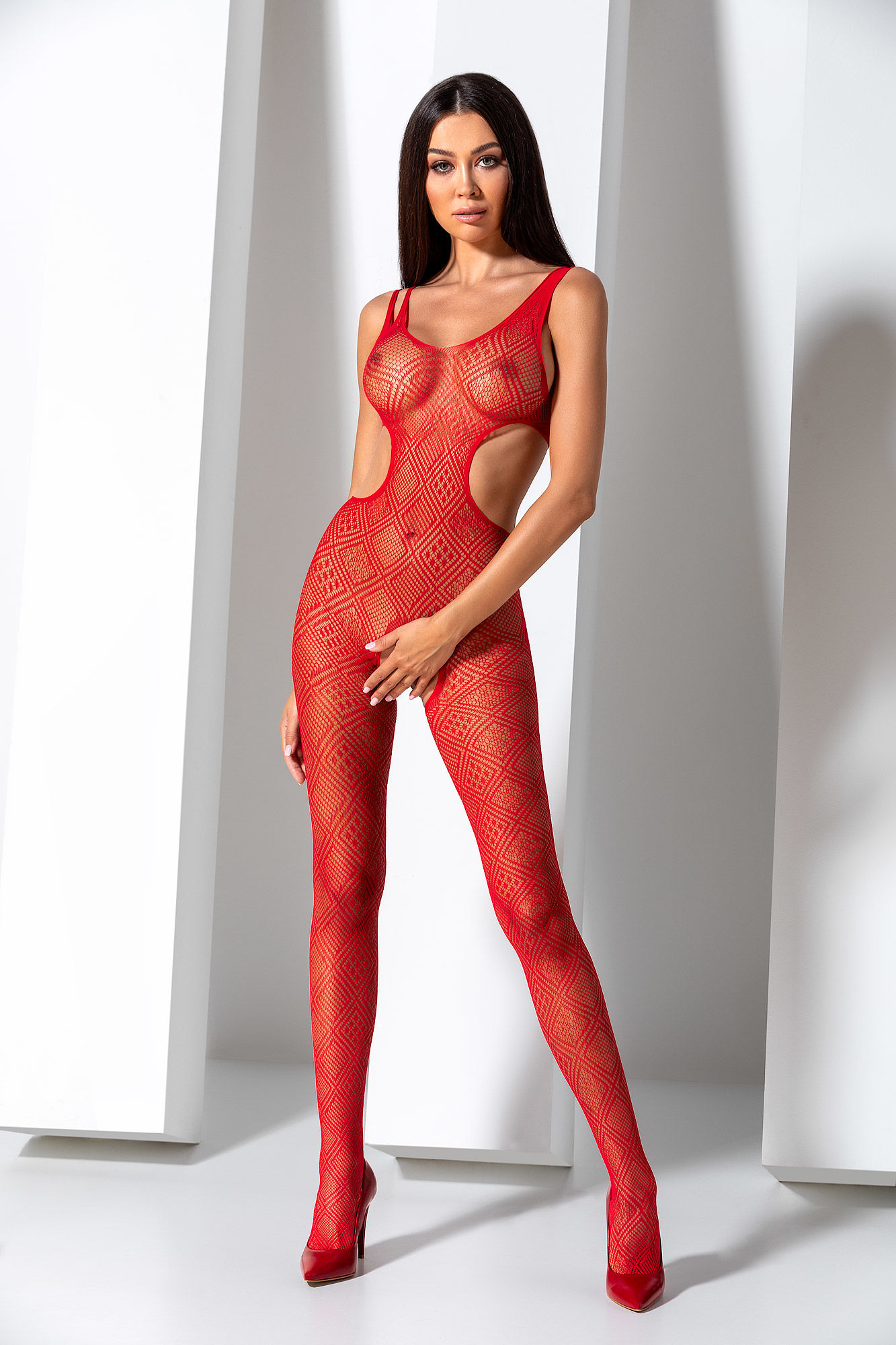 Passion Bodystocking BS085 Red