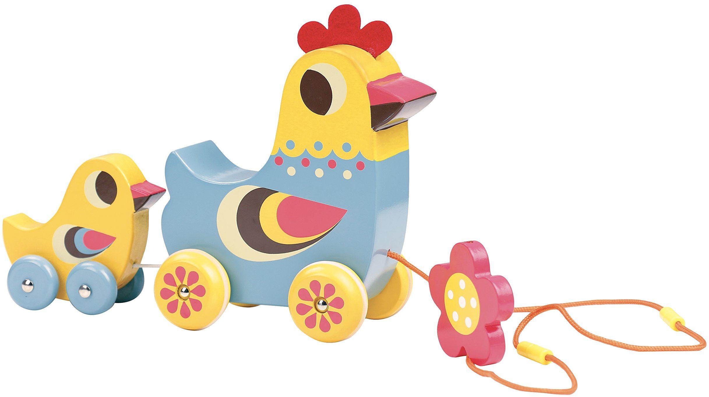 Vilac Vilac7738 ''Hen and The Chick'' zabawka muzyczna, wielokolorowa