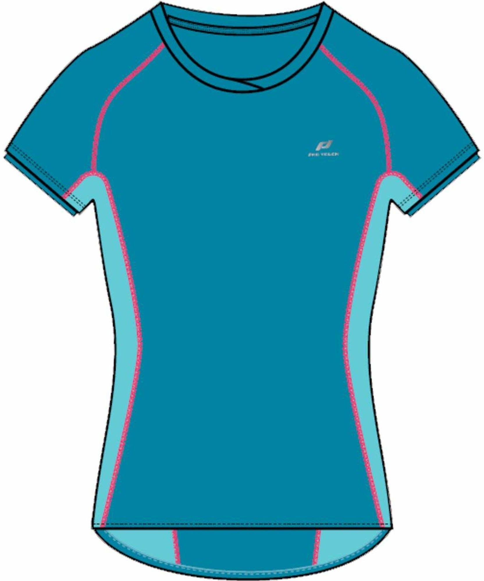 Pro Touch damska koszulka z krótkim rękawem Gaisa niebieski Blue Aqua/Turquoise 46