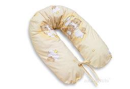 MAMO-TATO Poszewka na poduszkę dla kobiet w ciąży Drabinki z misiami na kremowym tle