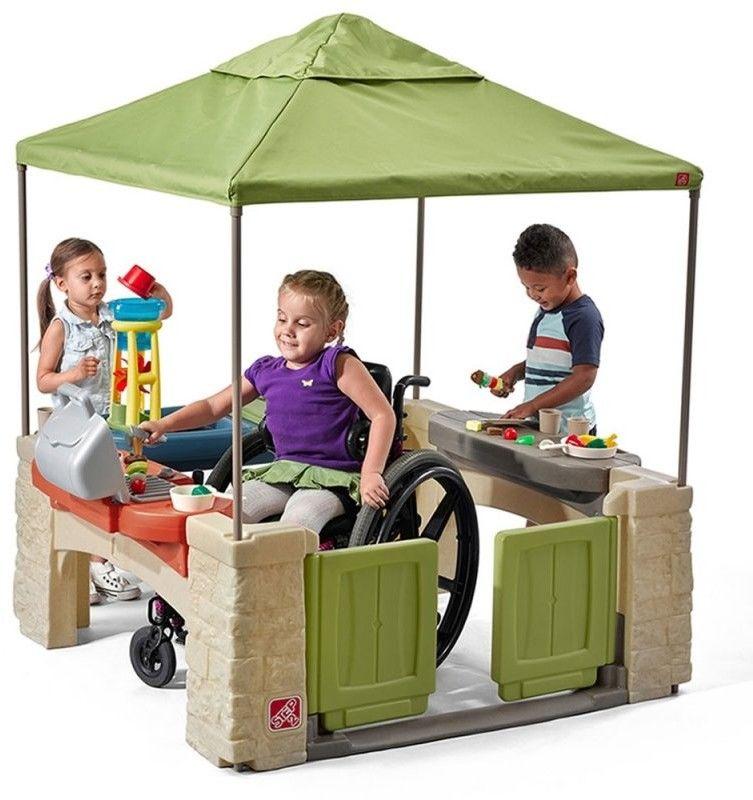 Stolik Piknikowy z Parasolem Dla Dzieci Step2