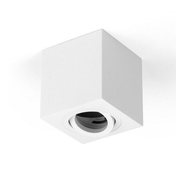 Oprawa sufitowa spot kostka natynkowa CROSTI SASARI SQ 120 S biały szer. 9cm