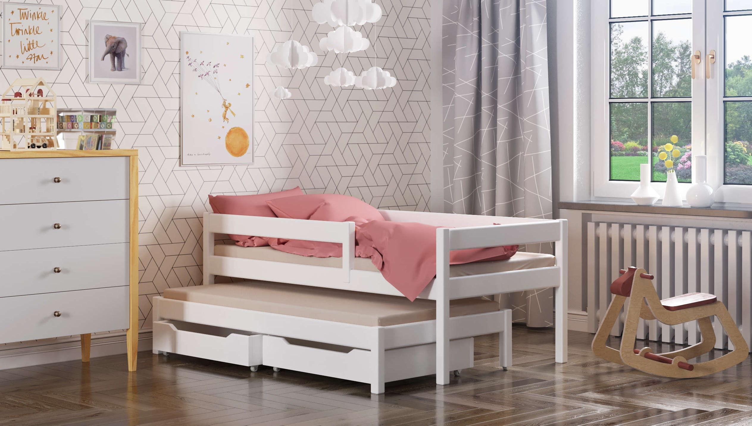 Łóżko dla dzieci z dostawką Maria (podwójne/pojedyncze)