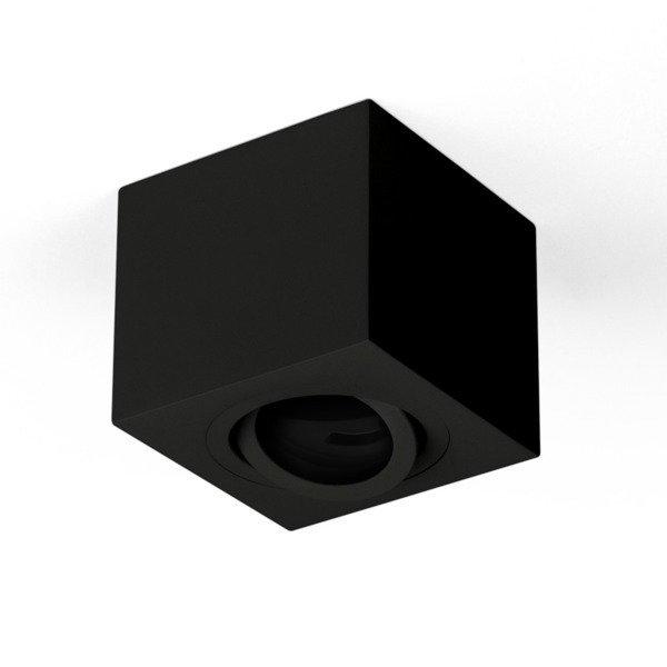 Oprawa sufitowa spot kostka natynkowa CROSTI SASARI SQ 120 S czarny szer. 9cm