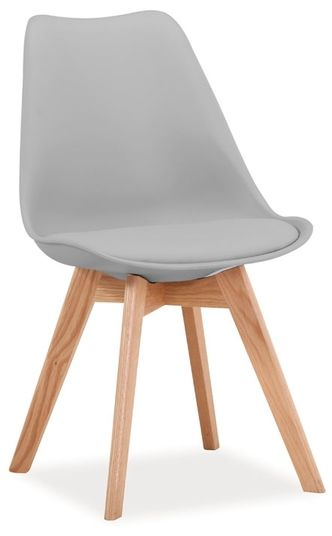 Krzesło KRIS jasno szare/buk  Kupuj w Sprawdzonych sklepach