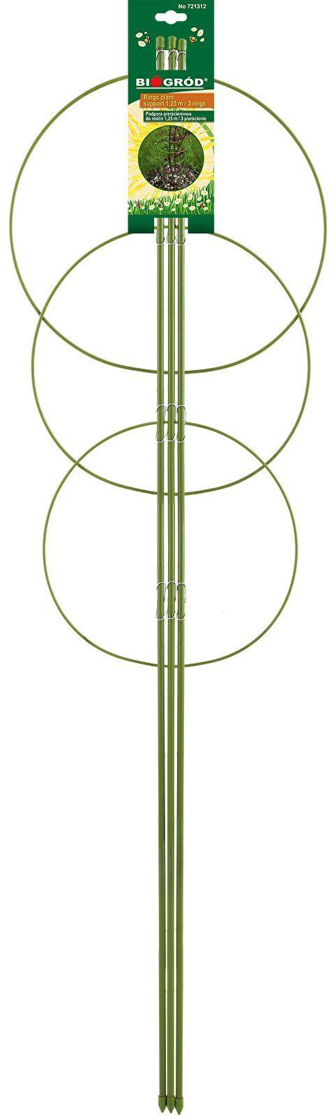 Podpora pierścieniowa do roślin 3 pierścienie 1,2m