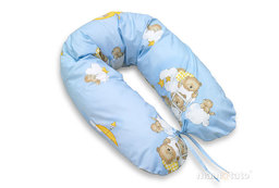 MAMO-TATO Poszewka na poduszkę dla kobiet w ciąży Drabinki z misiami na błękitnym tle