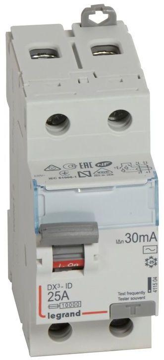 Wyłącznik różnicowoprądowy 2P 25A 0,03A typ AC P302 DX3 411504