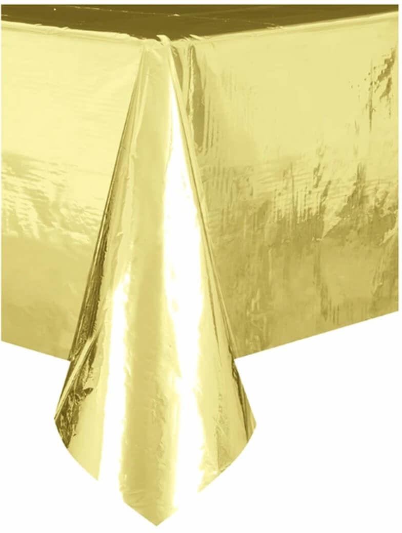 Obrus metaliczny złoty - 137 x 274 cm - 1 szt.