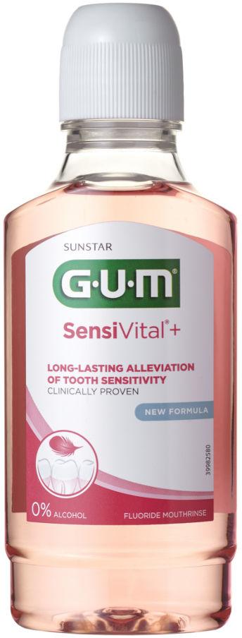 GUM SensiVital Plus 300ml - płyn do płukania jamy ustnej przeciw nadwrażliwości zębowej