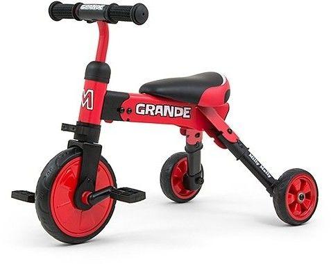 Milly Mally Grande rowerek trójkołowy 2w1 red