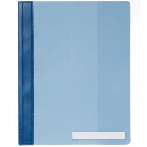 Skoroszyt A4 z przeźroczystą okładką szerokość ponadstandardowa wykonany z PCW niebieski 251006