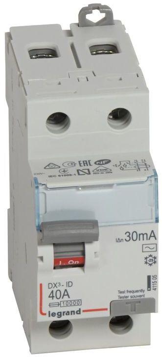Wyłącznik różnicowoprądowy 2P 40A 0,03A typ AC P302 DX3 411505