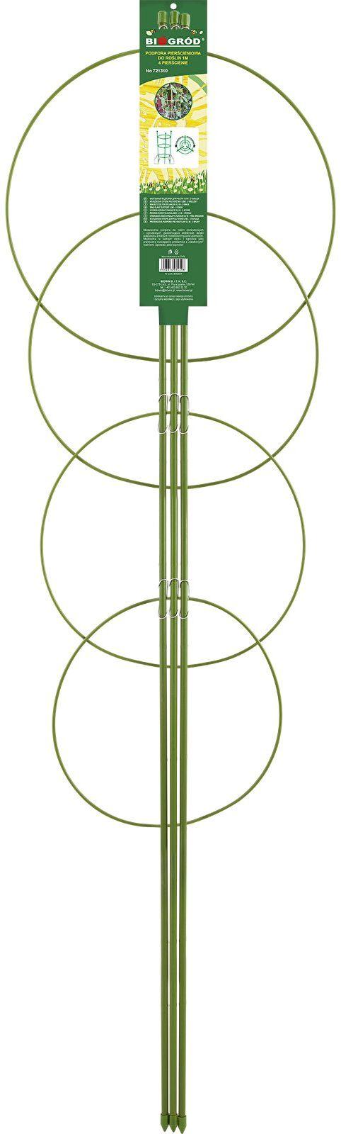 Podpora pierścieniowa do roślin 4 pierścienie 1m