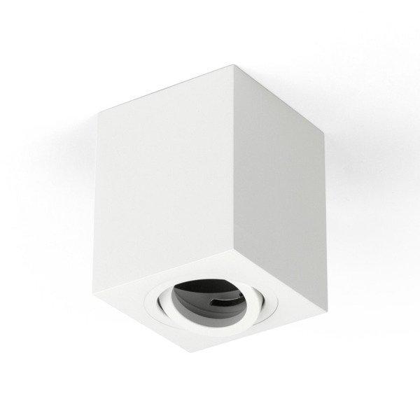 Oprawa sufitowa spot kostka natynkowa CROSTI SASARI SQ 145 S biały szer. 9cm