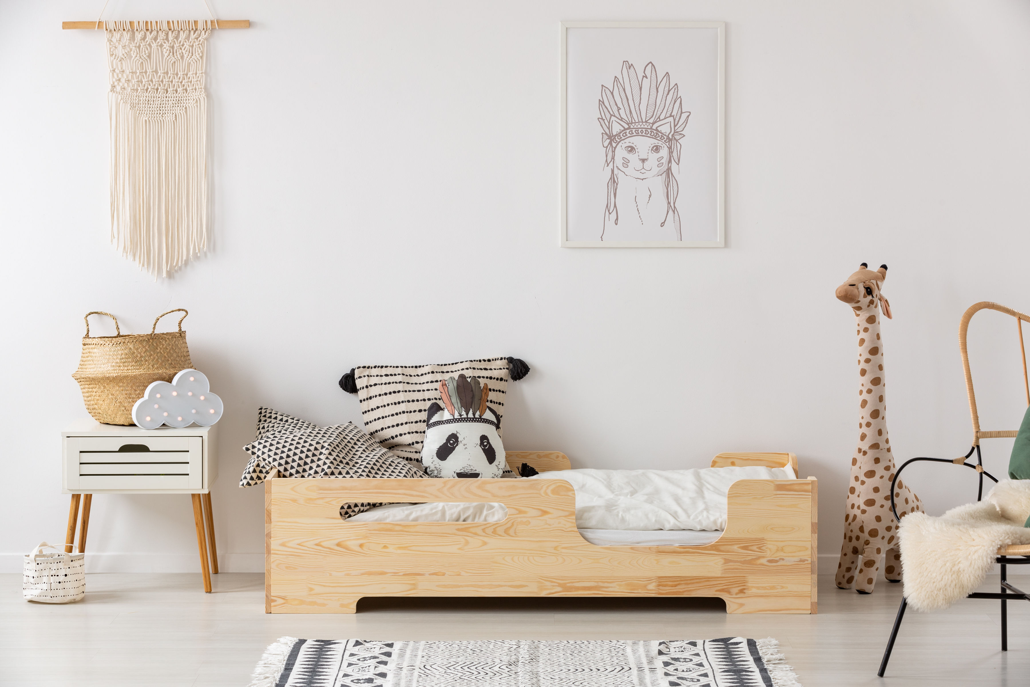 Łóżko dla dzieci pojedyncze Agathe
