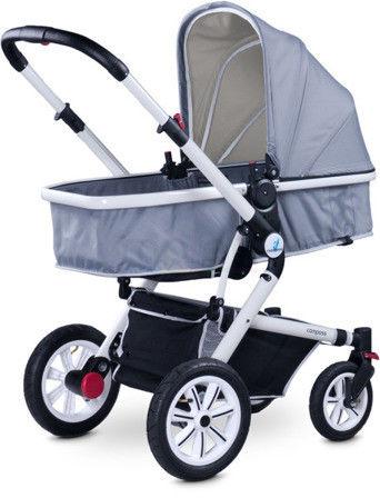 Wózek wielofunkcyjny 2w1 Caretero Compass - Grey