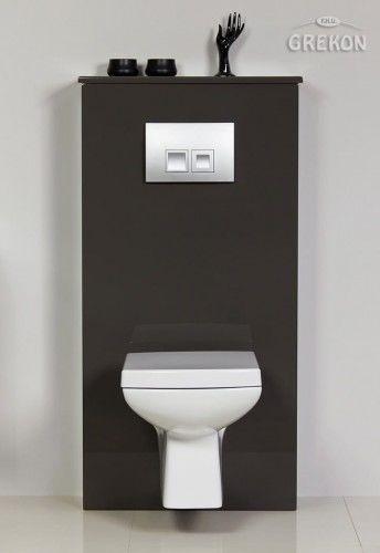 Zabudowa stelaża WC szara, Gante FOKUS