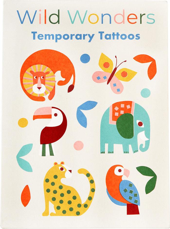 REX LONDON - Tatuaże Zmywalne Dla Dzieci, Dzikie Zwierzęta, Rex London