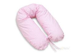 MAMO-TATO Poszewka na poduszkę dla kobiet w ciąży Krateczka różowa