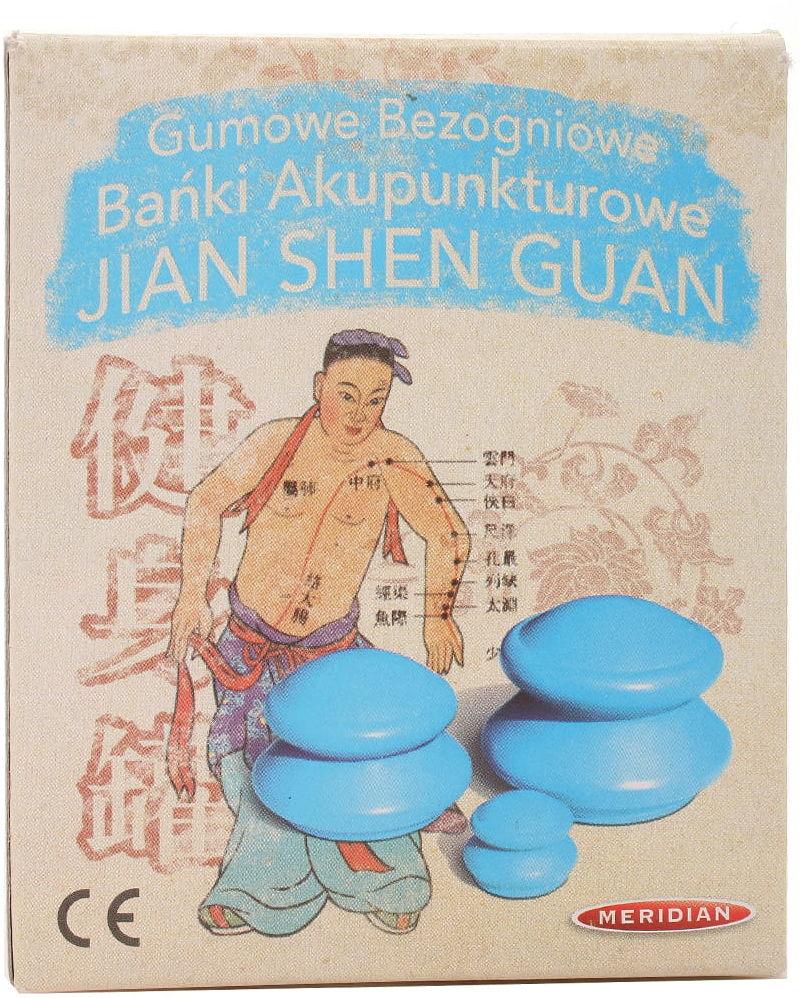 Bańki akupunkturowe chińskie bezogniowe - Meridian - 1op